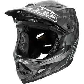 Troy Lee Designs D4 Carbon MIPS Mirage Casco, stealth black/silver